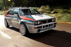 Lancia Delta Integrale on the tarmac...