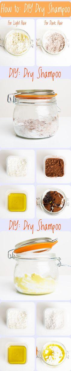How to Make Dry Shampoo cleanses, dark hair, dry shampoo, bad hair, essential oils, beauti, baking, health remedi, blog