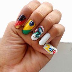 ~*JD*~: DIY Nail Art: Dare to Dream (Fifa World CuP)
