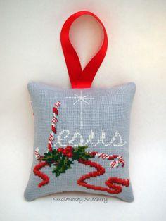Cross Stitch Christmas Ornament Jesus Christmas by NeedleNosey, $18.00