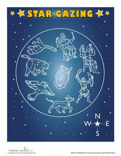 Worksheets: Constellations for Kids