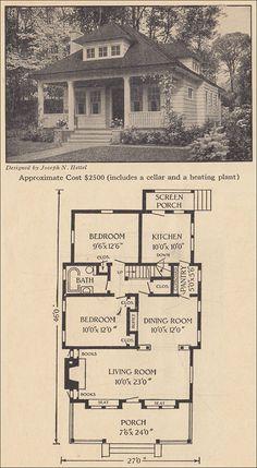 1916 Small Bungalow - Ladies Home Journal - Joseph N. Hettle