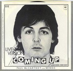 """Paul McCartney and Wings """"Coming Up"""" (1980) — 45 rpm Record Sleeve"""