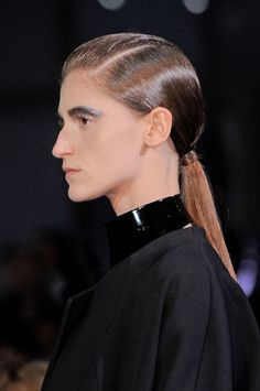 Slick pony at John Galliano.