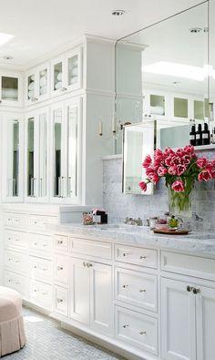 bathroom storage, master bathrooms, bathroom designs, white bathrooms, master baths