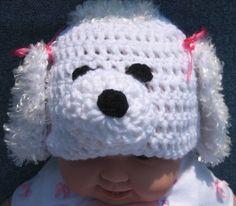 Poodle Crochet Beanie Skullcap