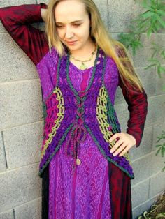 Spider Web Mandala Vest  Dress PATTERN Make your by elorascastle, $7.99