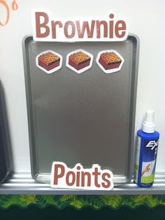 Brownie Points... add brownie to sheet pan when students receive a compliment about their behavior in the hallway! When the pan fills up, the class receives brownies :)