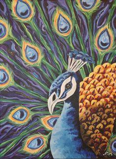 Christy Berry's Peacock Painting Lesson  www.berryart.wordpress.com