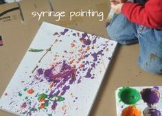 medical play activities, craft, kid activ, art activ, syring paint, paintings, little girl activities, theme medical kids