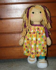 """14""""  crochet doll made by Purple Bird Crochet www.purplebirdcrochet.etsy.com  -  www.facebook.com/purplebirdcrochet  -  Instgram: PurpleBirdCrochet"""