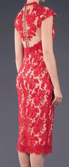 GORGEOUS!!! Red lace pencil dress