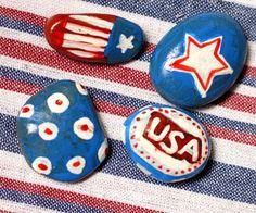 DIY: Patriotic Tablecloth Weights