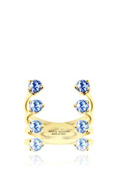 Eight Dots Ring In Blue Sapphire by Delfina Delettrez for Preorder on Moda Operandi