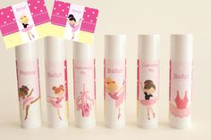 Ballet Party Favors - Ballerina Favor - Ballet Theme - Dance Party Favors - Custom Lip Balm - Set of 6 - Free Customization on Etsy, $12.00. Make these!!!
