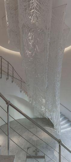 pop-up paradises - expansive cut textile installations by manuel ameztoy