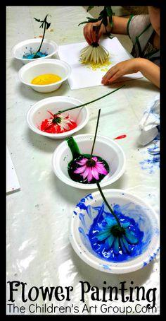 The Children's Art Group: Meetup 33: Flower Painting
