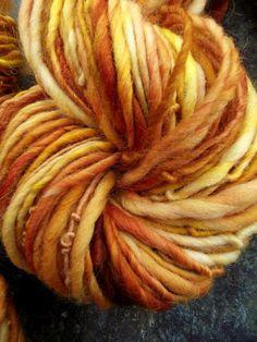 Handspun yarn,handpainted yarn Merino Wool Thick and Thin, bulky, multiple skeins available-PIPPILOTTA