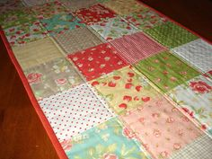 quilted table runner strawberri tabl