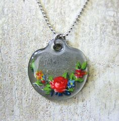 pet tag and other pendants covered with enamel