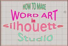 Silhouette School: Silhouette Studio Word Art Tutorial silhouett school, silhouett cameo, silhouette cameo word art, silhouett tutori, silhouett studio