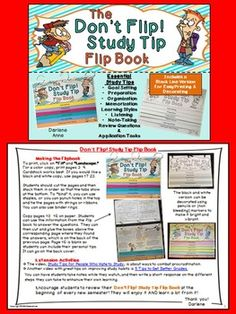 STUDY TIPS: DON'T FLIP! FLIP BOOK