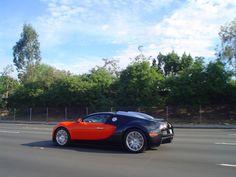 Orange and Black Bugatti Veyron cruising!