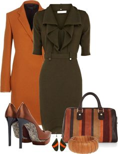 #love brown Office clothes #2dayslook #fashion #new #nice #Officeclothes www.2dayslook.com