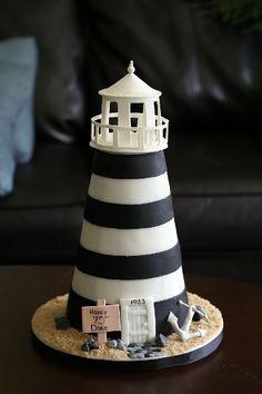 a lighthouse cake!