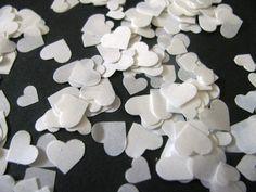 5,000 Dissolving/Biodegradable MINI ASSORTED HEART shape confetti. $22.00, via Etsy.