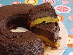 Bolo de Cenoura com Pudim de Chocolate | Gordelícias