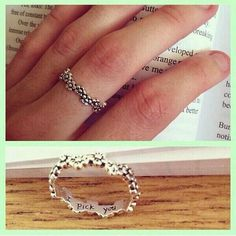 Instead of an engagement ring. But not flowers...