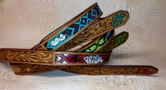 Beaded belts by k bar heart beadwork. Find us on Facebook!  Www.facebook.com/KBarHeartBeads