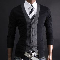 vest cardigan whaaat?!  men's fashion