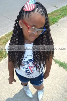 natural black twisted hairstyles girl kids | ... and Beyond: Easter Hairstyles for Little Girls with Natural Hair Little Girls, Bead, Easter Hairstyl, Braid, Natural Hair Styles, Natur Hair, Criss Cross, Black Girls, Kid