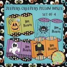 Halloween Printable Pillow Boxes