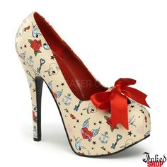 """Tattoo Print 5 3/4"""" Heel by PinUp Couture - I want these so bad!"""