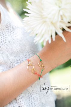 How sweet are these --> DIY String Bracelets with Tiny Shapes | Henry Happened