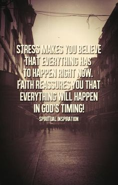 God's Timing
