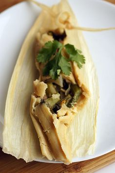 Oh my gosh, Olive Oil Tamales with Asparagus & Mushrooms.