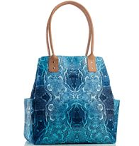 """Ocean Voyage Tote Bag  $24.99 """"Double handle, snap closure, 2 exterior pockets, 3 interior pockets. 12"""" H x 12"""" W x 6"""" D; handle drop, 8 1/2"""". Polyester, fully lined. """""""