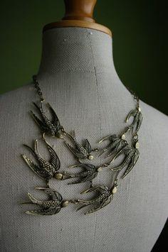 necklace birds