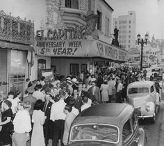 1947 El Capitan Theater On Vine St.  Home Of Ken Murray's Black Outs. I just recently purchased one of the programs to this show off ebay to figure out what acts played the year of 1946. This is also the theater that Jerry Lewis performed at. Love Jerry Lewis!