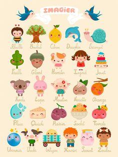 French alphabet. Adorable!