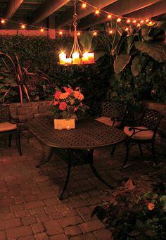 Great under-deck patio.