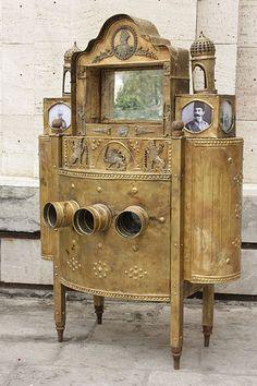 Antique Peep show in Golestan Palace, Iran