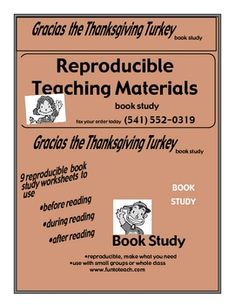 Gracias The Thanksgiving Turkey - Guided Reading/lesson plan/Unit  This Thanksgiving literature unit for Gracias The Thanksgiving Turkey by Joy Cowley consists of 10 pages. It can be used during the Thanksgiving holiday season for Guided Reading or a book or unit study.  $
