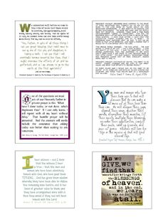 Post-it notes printables - quotes that can be stuck into your scriptures.
