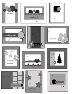 Card layouts