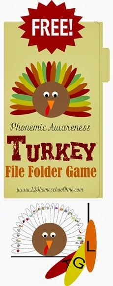 FREE Alphabet Turkey File Folder Game for Preschool &  Kindergarten #alphabet #preschool #kindergarten